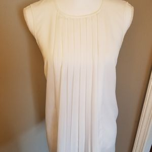 Michael Kors white sleeveless top